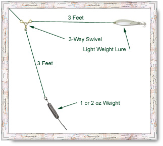 Effective methods for lake trout for Trout fishing line setup